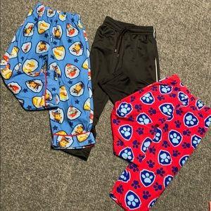 3 pair pajama pants-2 Paw Patrol, sweatpants